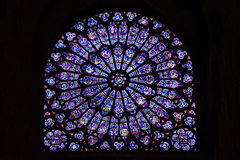 Figure 11 The North Rose Window Of Notre Dame Cathedral Paris Feature Old Testament Themes But Also Captures Some From New