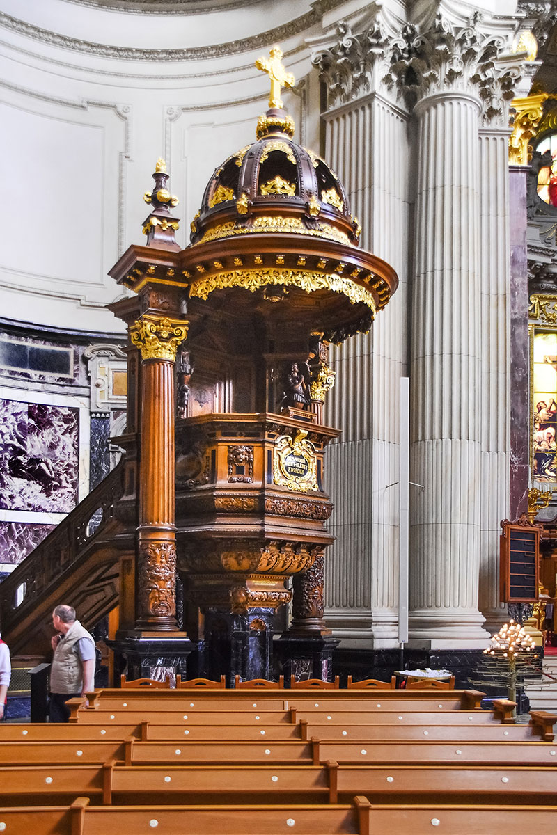 Berlin Cathedral pulpit