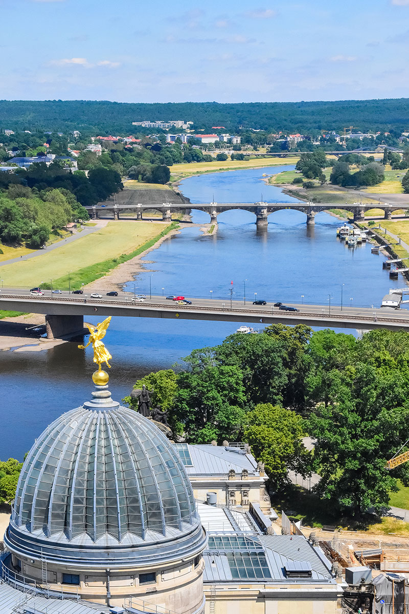 Elbe River and Dresden countryside
