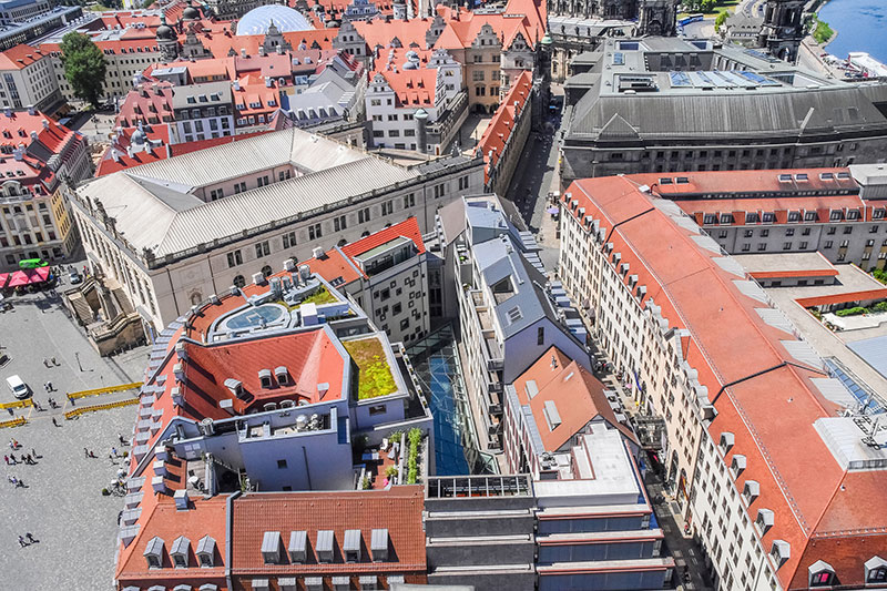 aerial view from the Frauenkirche