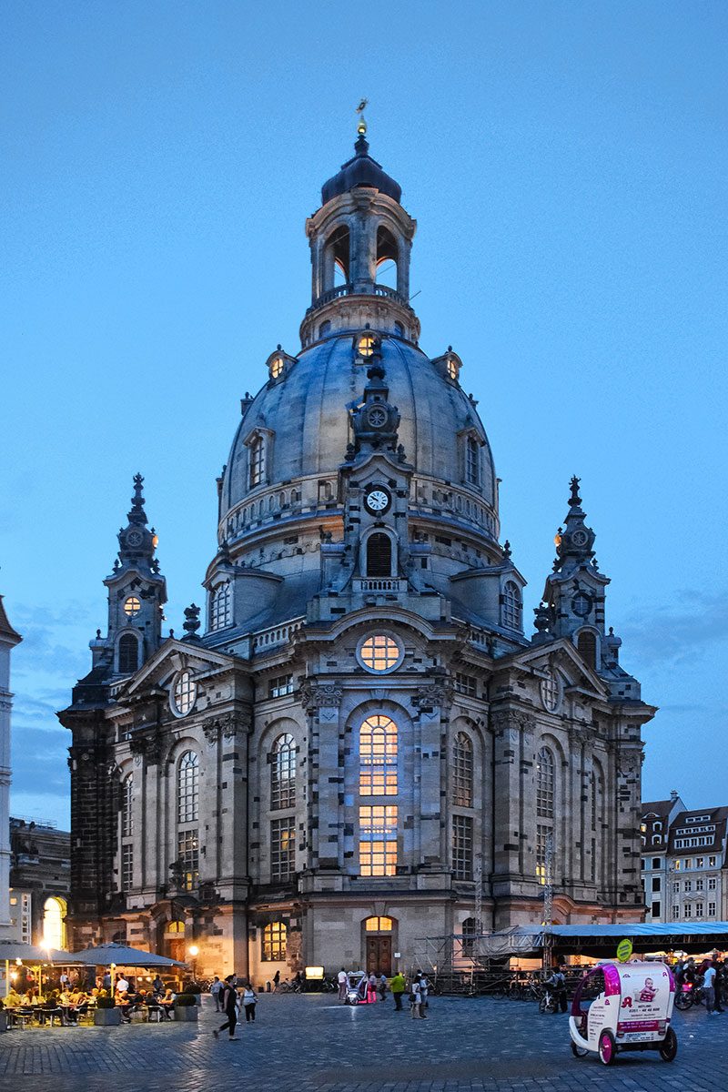 Dresden Cathedral dusk
