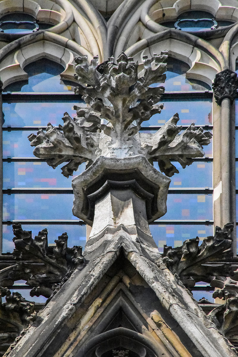 Figure 8 Ornate Cross Like Form On The Tip Of One Pediments Cologne Cathedral A Clear Example Beauty And Intricacy Masons Work