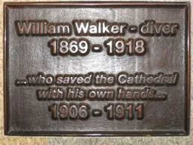 William Walker plaque