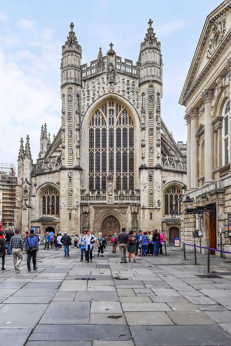 Bath Abbey western front