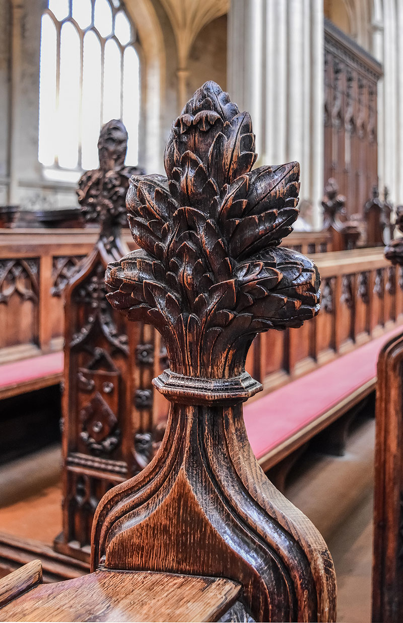 Bath Abbey pew