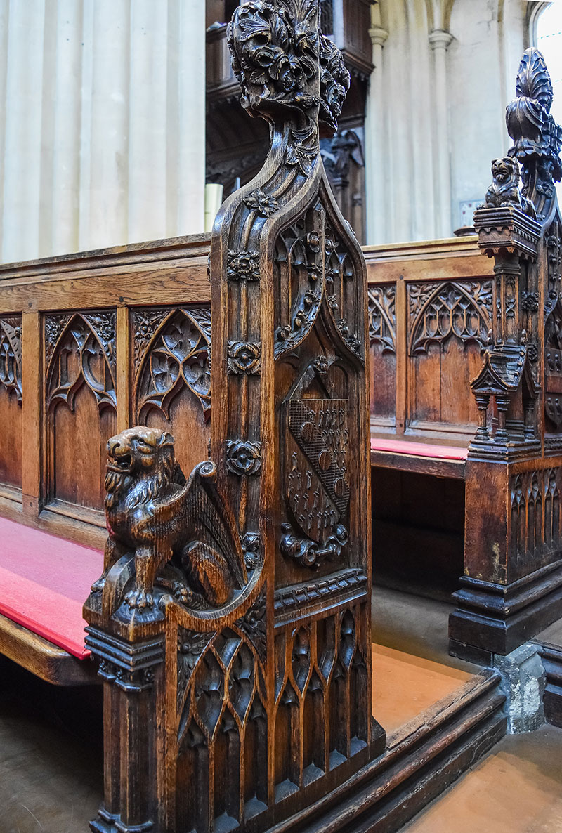 Bath Abbey presbytery pew