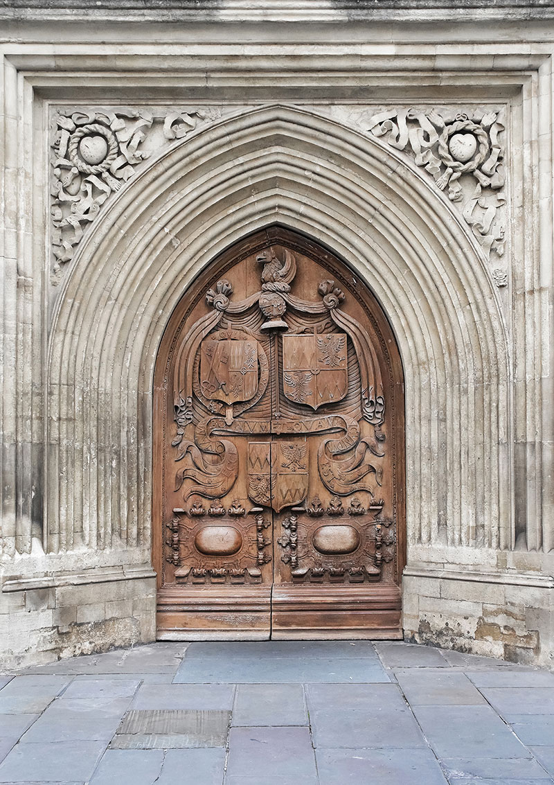 Bath Abbey oak door