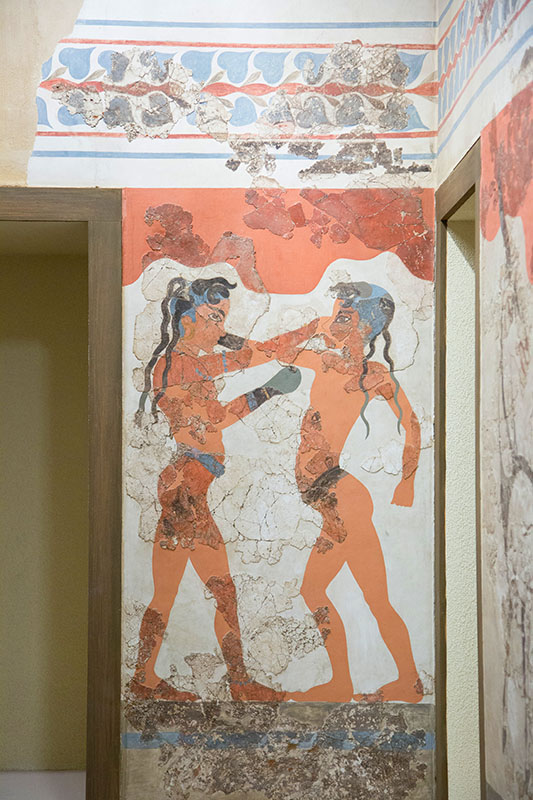 'Boxing Children' fresco