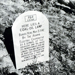 Tombstone for a kerosene lamp