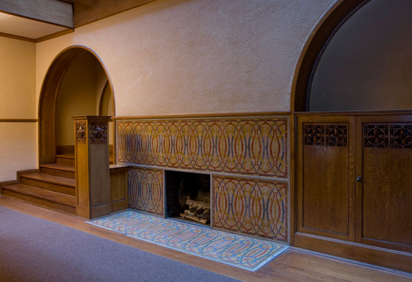 Charnley-Persky House fireplace