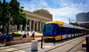 Lightrail-outside-the-Union-Depot