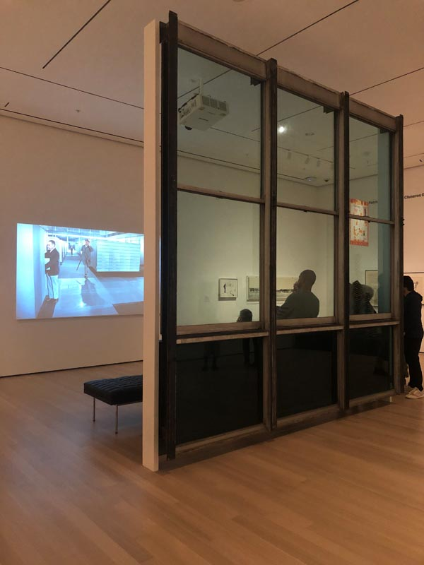 13. Installation view of Architecture Systems gallery with United Nations façade and Jacques Ta