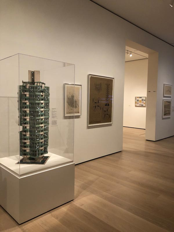 4. Installation view of Frank Lloyd Wright, St. Mark's Tower project