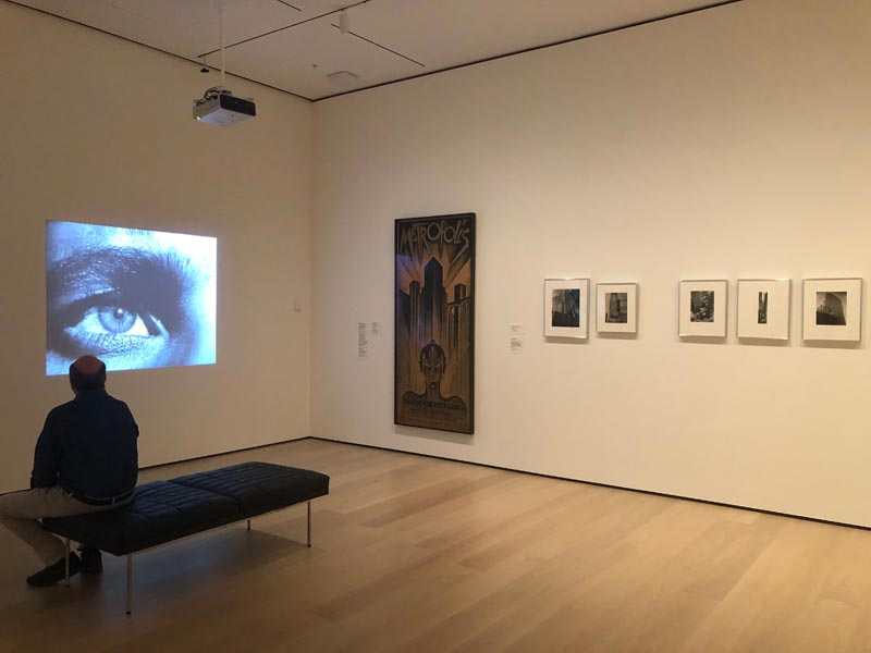 5. Installation view of films and photography in The Vertical City gallery