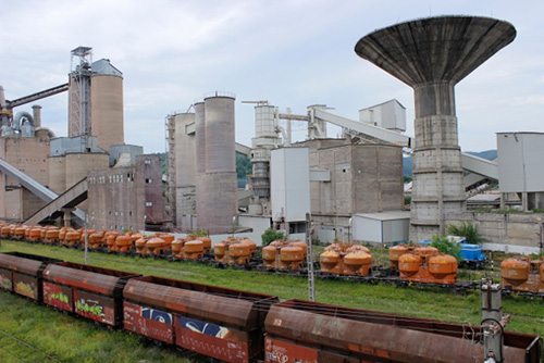 Huge Cement Plant : Socialist mass housing in bucharest