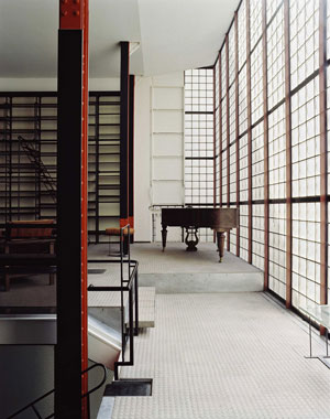 The interior of the Maison de Verre