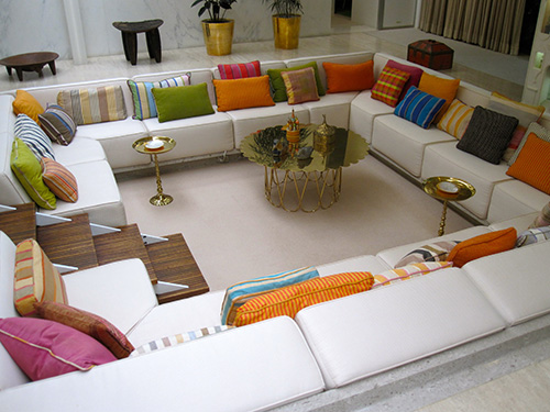 Millyer House conversation pit Columbus